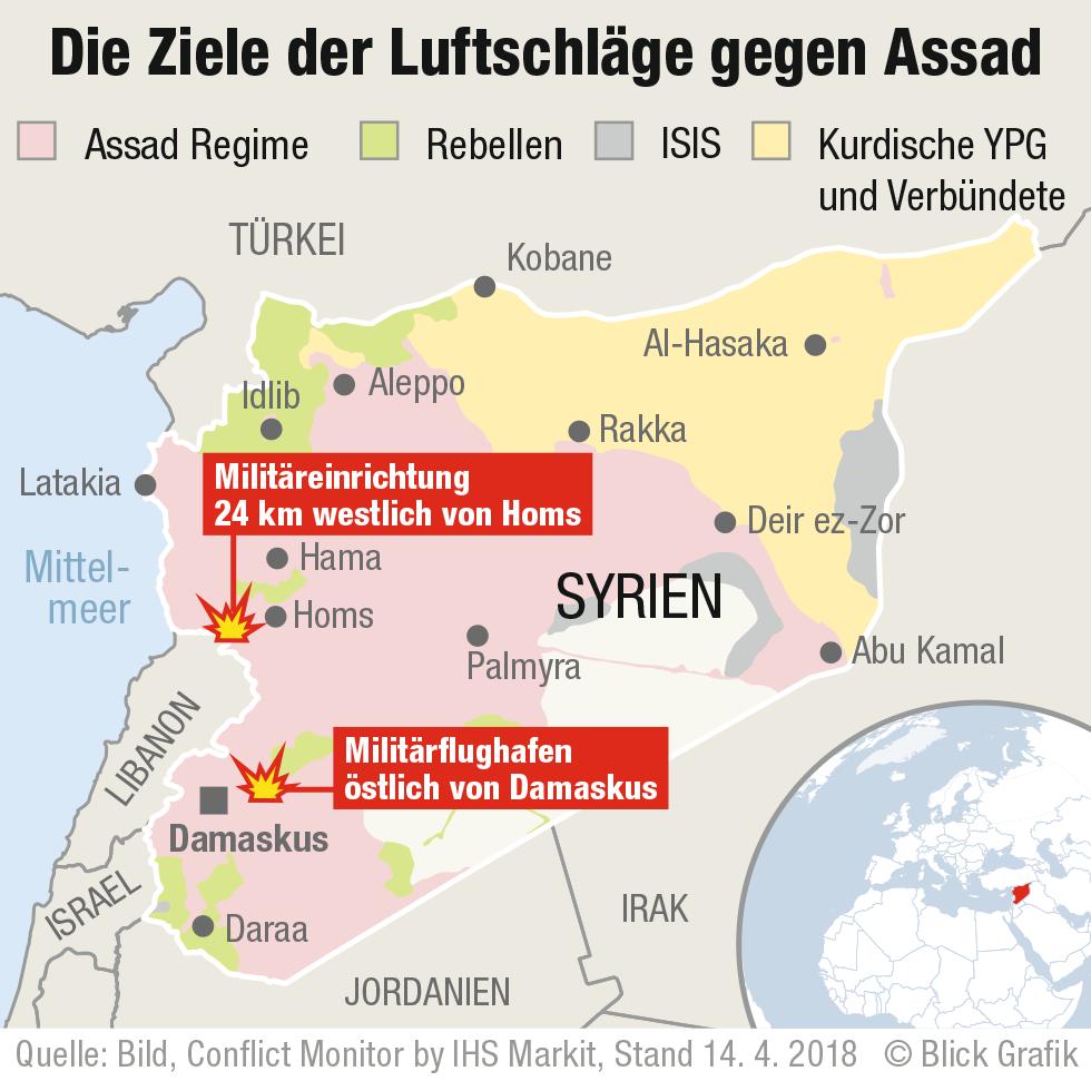 Syrien Karte Krieg.Die Wichtigsten Parteien Im Syrien Konflikt In Der übersicht Blick